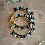 Серьги-кольца ручной работы. Ярмарка Мастеров - ручная работа Серьги-кольца (№2014-03). Handmade.