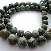 Материалы для творчества handmade. Livemaster - original item Jasper natural smooth ball beads , 10mm and 12mm. Handmade.