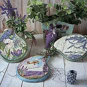 Посуда handmade. Livemaster - original item Cutting Board Mood Provence. Decoupage. Handmade.