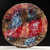 Посуда ручной работы. Ярмарка Мастеров - ручная работа Блюдо Красная Исландия. Handmade.