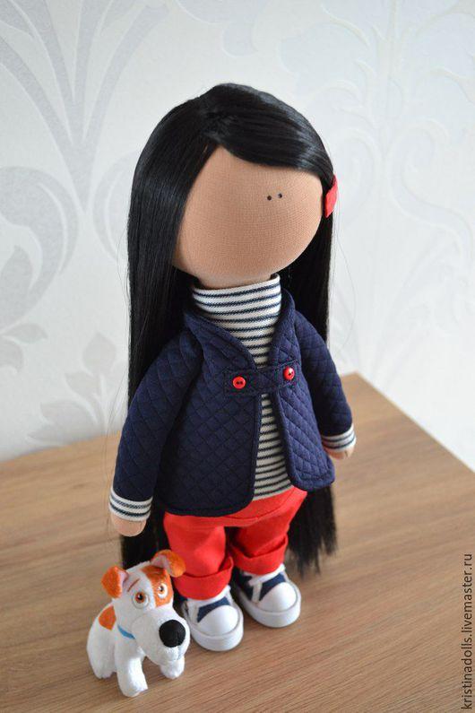Коллекционные куклы ручной работы. Ярмарка Мастеров - ручная работа. Купить текстильная кукла. Handmade. Ярко-красный, кукла интерьерная