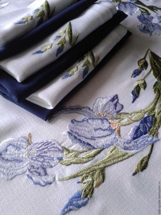 """Кухня ручной работы. Ярмарка Мастеров - ручная работа. Купить Программа машинной вышивки """"Ирисы"""". Handmade. Белый, нитки акрил"""