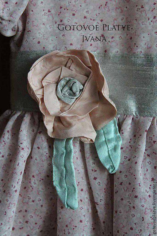 Одежда для девочек, ручной работы. Ярмарка Мастеров - ручная работа. Купить Весенний цветок. Handmade. Бледно-розовый, платье, шёлк