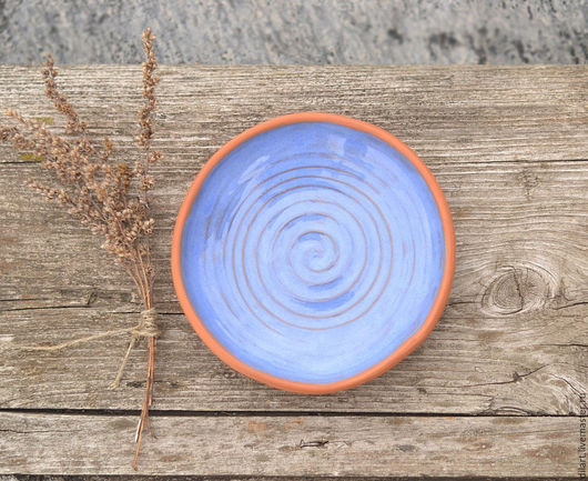 синяя тарелка голубая тарелка керамическая тарелка в подарок подарочная тарелка для еды авторская тарелка декоративная подарок подруге подарок женщине тарелка ручной работы посуда ручной работы