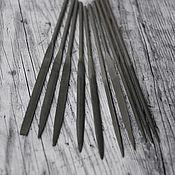 Материалы для творчества handmade. Livemaster - original item Needle file set. 10 PCs. Handmade.