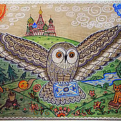 Картины и панно handmade. Livemaster - original item Picture. A Letter from Russia. Handmade.