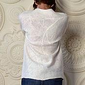 Одежда ручной работы. Ярмарка Мастеров - ручная работа Белый валяный джемпер. Handmade.