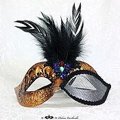 """Одежда ручной работы. Ярмарка Мастеров - ручная работа Карнавальная маска """"Царевна с пером"""" напрокат. Handmade."""