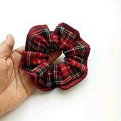 Резинка для волос ручной работы. Ярмарка Мастеров - ручная работа Резинка для волос в клетку. Шотландка.. Handmade.
