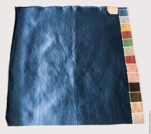 Аппликации, вставки, отделка ручной работы. Ярмарка Мастеров - ручная работа. Купить Образец старинной шелковой ткани. Handmade. Синий