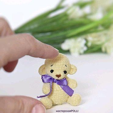 Минимишка, Мишка, минитедди медвежонок, подарок девочке, тедди крючком