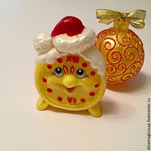 Мыло ручной работы. Ярмарка Мастеров - ручная работа. Купить мыло Новогодний будильник. Handmade. Комбинированный, мыло в новокузнецке