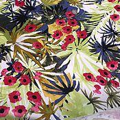 Материалы для творчества ручной работы. Ярмарка Мастеров - ручная работа Хлопок Красные цветы. Handmade.