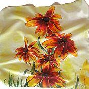 Аксессуары handmade. Livemaster - original item Batik Shawl Sun. Handmade.