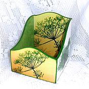 Shelves handmade. Livemaster - original item Box for spices Dill. Handmade.