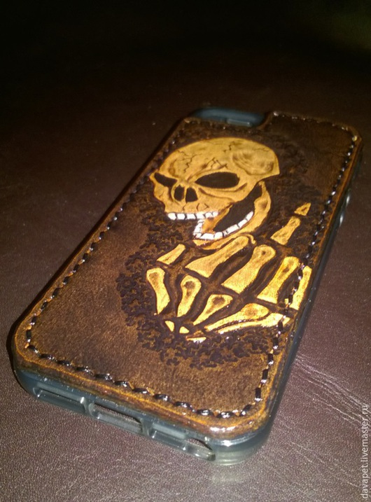 Для телефонов ручной работы. Ярмарка Мастеров - ручная работа. Купить Чехлы (накладки) для Iphone 5/5s. Handmade. Разноцветный, кожа