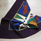 Платок шёлковый, марка HARDY AMIES LONDON. Винтаж 80г.г