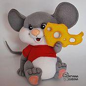 Куклы и игрушки ручной работы. Ярмарка Мастеров - ручная работа Мышонок валяный Сёма. Handmade.