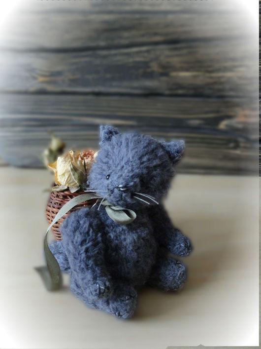 Мишки Тедди ручной работы. Ярмарка Мастеров - ручная работа. Купить Кот. Handmade. Миниатюра, коричневый, серый, котик, оникс