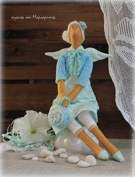 Куклы Тильды ручной работы. Ярмарка Мастеров - ручная работа. Купить Тильда-ангел добрых вестей Катрина. Handmade. Мятный