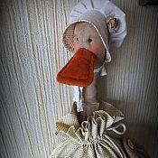 Для дома и интерьера ручной работы. Ярмарка Мастеров - ручная работа ШЕББИ УТКА-2 пакетница. Handmade.