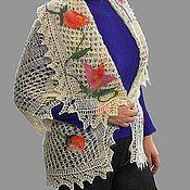 """Одежда ручной работы. Ярмарка Мастеров - ручная работа Накидка """"Весенний букет"""". Handmade."""