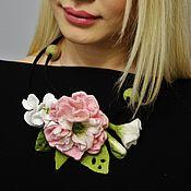 """Украшения ручной работы. Ярмарка Мастеров - ручная работа Колье """"Розовый пион"""". Handmade."""