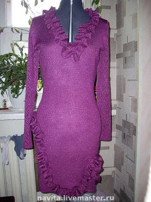 Платья ручной работы. Ярмарка Мастеров - ручная работа. Купить Платье  вечернее с рюшами. Handmade. Подарок, Платье нарядное