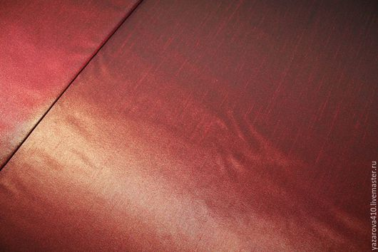 Шитье ручной работы. Ярмарка Мастеров - ручная работа. Купить Тафта,красно-терракотового цвета,с фактурой Дюпон,Франция. Handmade.