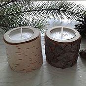 handmade. Livemaster - original item Candle holders from cut birch, pine and cedar. Handmade.