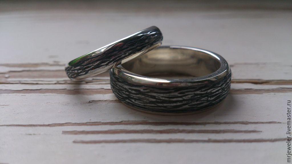 """Кольца ручной работы. Ярмарка Мастеров - ручная работа. Купить """"Чугунная Свадьба"""". Handmade. Свадьба, серебряный, чугун"""