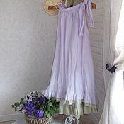 """Одежда ручной работы. Ярмарка Мастеров - ручная работа Платье-туника""""Рассвет цвета лаванды"""". Handmade."""
