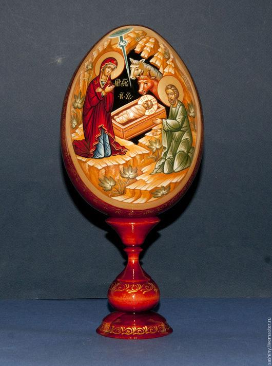 Яйца ручной работы. Ярмарка Мастеров - ручная работа. Купить Рождество Христово яйцо пасхальное ручная роспись. Handmade. Яйцо