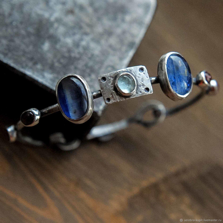 3dfa8f342c44 Браслеты ручной работы. Ярмарка Мастеров - ручная работа. Купить Женский  браслет серебро натуральные камни ...