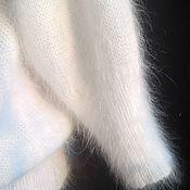 Одежда ручной работы. Ярмарка Мастеров - ручная работа белый джемпер из ангоры80. Handmade.