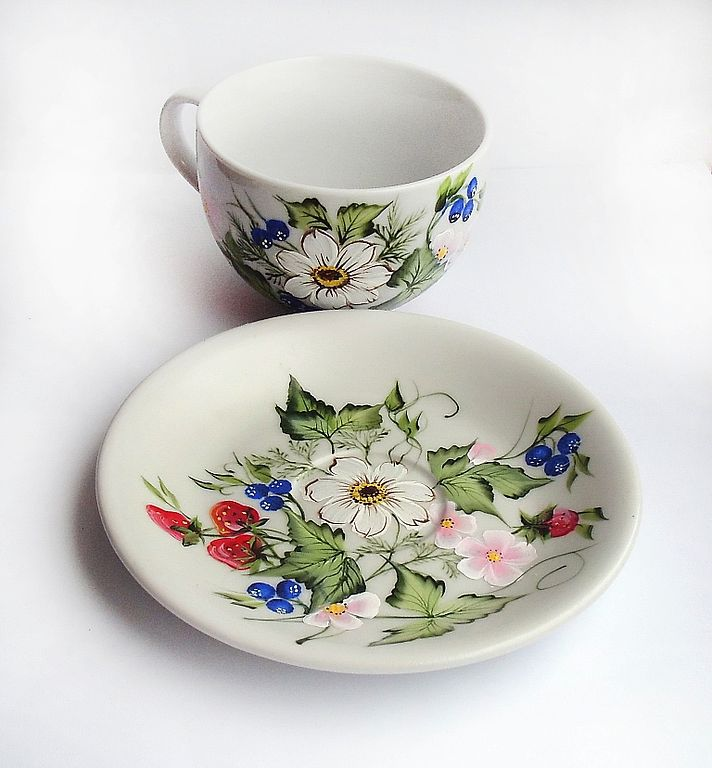 Tea Sets handmade. Livemaster - handmade. Buy Decorative vase with painted ' Ah summer!'.Gift, gift girl