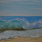 """Картины и панно ручной работы. Ярмарка Мастеров - ручная работа Картина """"Голубая волна"""". Handmade."""