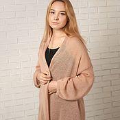 Одежда handmade. Livemaster - original item Women`s knitted Beige cardigan. Handmade.
