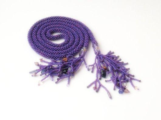 """Лариаты ручной работы. Ярмарка Мастеров - ручная работа. Купить Лариат """"Фиола"""". Handmade. Вязание крючком, лариат, женский галстук"""