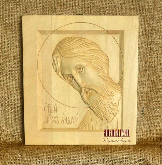 Иконы ручной работы. Ярмарка Мастеров - ручная работа. Купить икона Апостол Андрей. Handmade. Коричневый, андрей, подарок мужчине