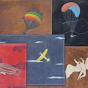 Подарки к праздникам handmade. Livemaster - original item BALLOONING passport cover, leather. Handmade.