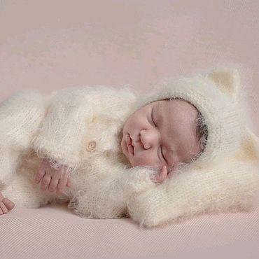 Товары для малышей ручной работы. Ярмарка Мастеров - ручная работа Комплект Котёнок для фотосессии новорожденных На выписку из роддома. Handmade.