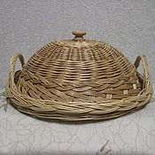 Для дома и интерьера handmade. Livemaster - original item Tray with handles and a cover woven of twigs. Handmade.