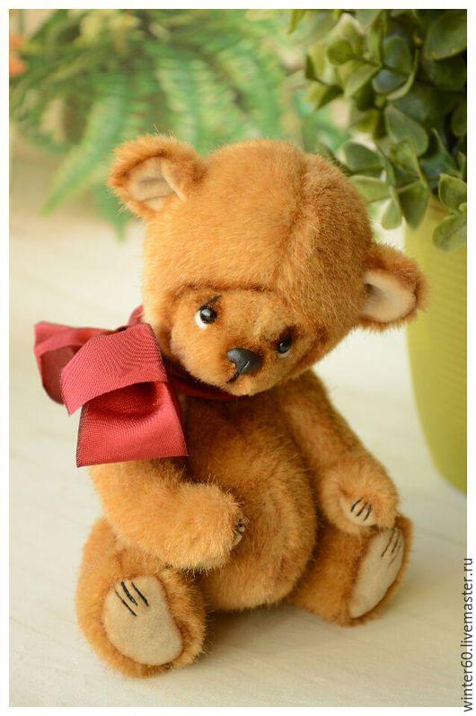 Мишки Тедди ручной работы. Ярмарка Мастеров - ручная работа. Купить Осенний медвежонок. Handmade. Бежевый, мохер Германия