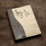 Канцелярские товары ручной работы. Ярмарка Мастеров - ручная работа Обложка музыкальная на паспорт/автодокументы из натуральной кожи. Handmade.