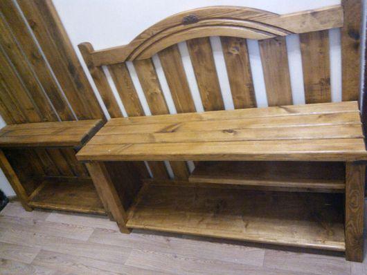 Мебель ручной работы. Ярмарка Мастеров - ручная работа. Купить Деревянные конструкции  (Скамейка под обувь и вешалка). Handmade. На заказ
