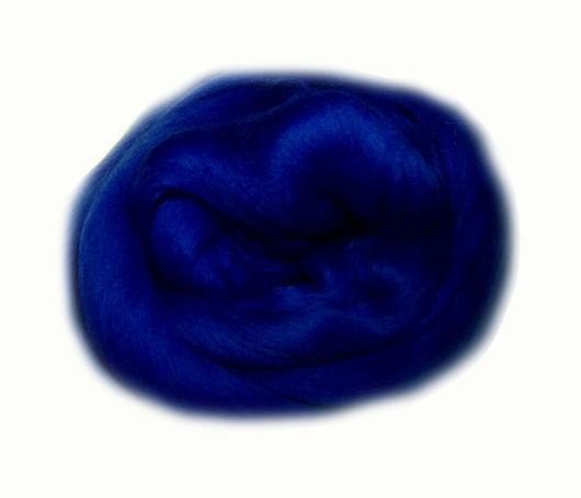 """Валяние ручной работы. Ярмарка Мастеров - ручная работа. Купить Синий сапфир.  Шерсть Extra fine 19 мкм! Цвет """"Синий сапфир"""". Handmade."""