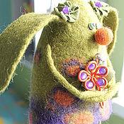 Для дома и интерьера ручной работы. Ярмарка Мастеров - ручная работа Валяная интерьерная игрушка Зайка-Веснушка. Handmade.