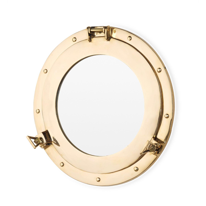 Зеркало в виде иллюминатора из полированной латуни, Зеркала, Москва,  Фото №1