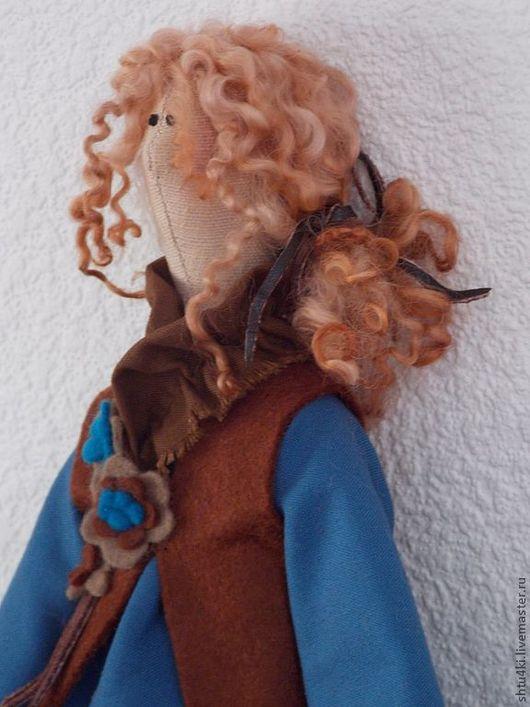 Куклы Тильды ручной работы. Ярмарка Мастеров - ручная работа. Купить В стиле Бохо. Эшли. Handmade. Синий